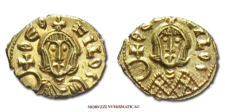 Byzantine coins: semis of Theophilus offered by Arsantiqva