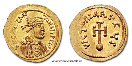 Byzantine coins: semis of Constantine IV offered by Arsantiqva